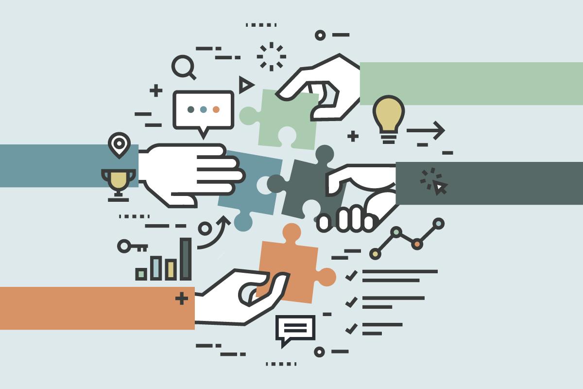 Symbolbild für Zusammenarbeit - Collaboration